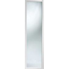 "Shaker Sliding Wardrobe Door 610mm (24"") White Mirror Door"